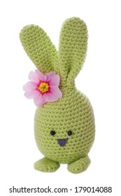 aloha green handmade easter bunny with flower