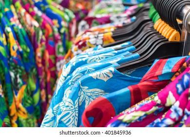 Aloha shirt on a clothesline,thai traditional songkran festivals