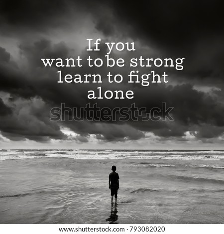 Alone Boy Near Beach Inspirational Quote Stock Photo Edit Now