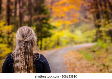 Young Girl Beautiful Hair Standing On Stock Photo Edit Now