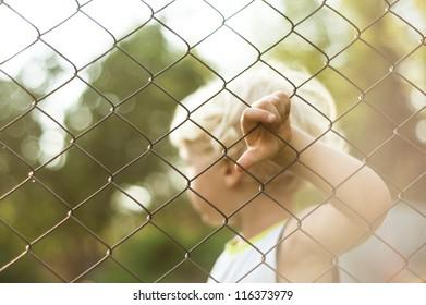 Alone kid like in prison