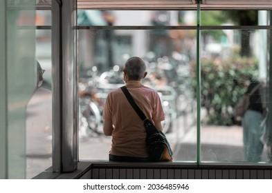 alone oldman solitude sad japan