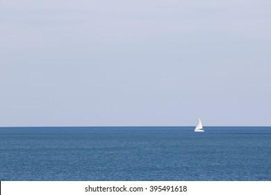 alone sailboat