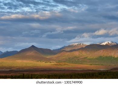 Along the Alaska Range there are wonderfool sunset