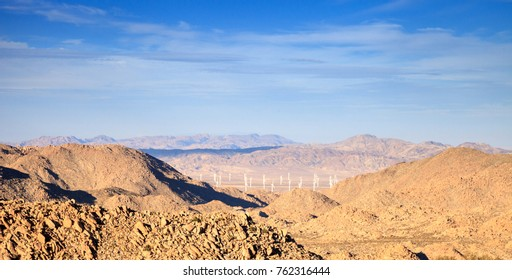 Along the Interstate 8 east on the boarder of California and Mexico, you can see the wind turbines on a wind farm that generate electricity for the Campo Indian Reservation.