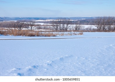 along schaars bluff trail at spring lake regional park reserve in hastings minnesota