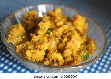 Aloo filling for parantha or kachori.Front view image