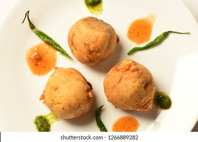 Aloo vada or potato vadas (indian cuisine)