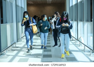 Alor Setar, Malaysia - May 10, 2020: Community Service Rescue by Malaysia Airlines sending all university students from Kuching, Sarawak and North Malaysia back to their families with return flight