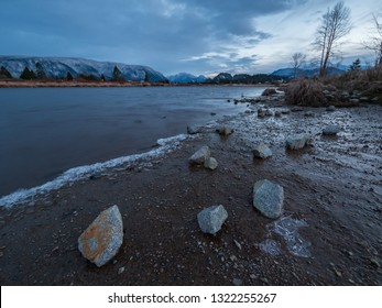 Alouette river on a cold winter morning.