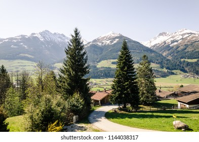 Alp mountains in Austria, beautiful view from my balcony, travel scenery