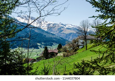 Alp mountains in Niedernsill, Austria beautiful landscapes, travel and tourism sightseeing