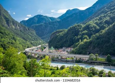Alpe Adria cycle path, Dogna,  Italy