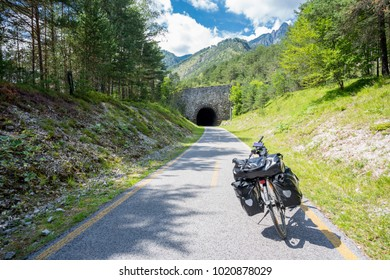 Alpe Adria cycle path, Italy.