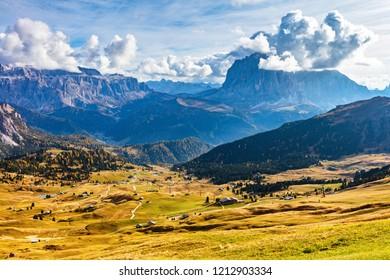 Alpean landscape in South Tyrol region