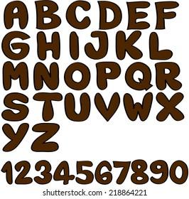 Alphabet Brown