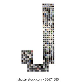 Alphabet by concept of Mosaic