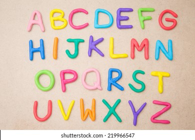Alphabet: colourful plasticine alphabet