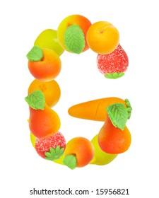 alphabet from fruit, the letter  G ?