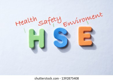 alphabet HSE health safety enviroment on the white background