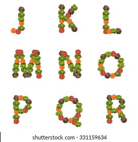 alphabet letters made from vegetables