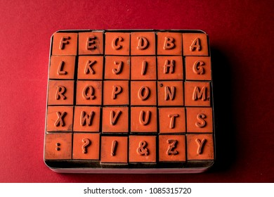 Alphabet made by letter printers