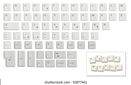Keyboard Keys Images, Stock Photos & Vectors | Shutterstock