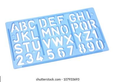 Alphabet Stencil on White Background