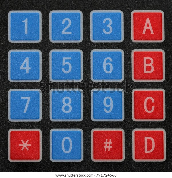Alphanumeric Keypad Close Photograph Electronic Alphanumeric Stock