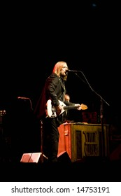 ALPHARETTA GA - JULY 9: Tom Petty and the Heartbreakers perform at the Verizon Ampitheatre at Encore Park on July 9, 2008 in Alpharetta, Georgia.