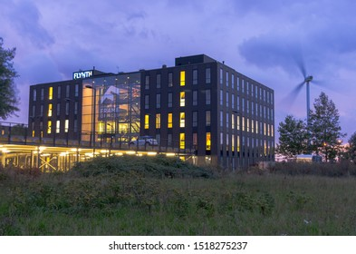 Alphen aan den Rijn, Netherlands - 26 SEPTEMBER 2019:Frame Offices is located on the edge of Alphen aan den Rijn, directly on the N11. A building with countless possibilities for business operations.
