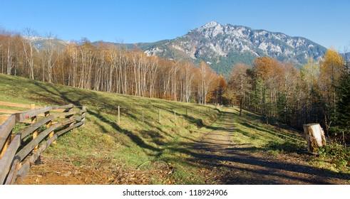 Alpine autumn mountain landscape