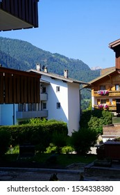 Alpine hotel in the village of Toblach, Italy