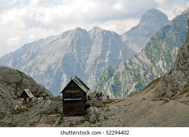 A alpine hut in the Julian Alps - Slovenia