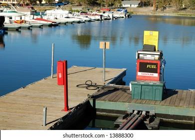 Alpine lake marina; Big Bear Lake; San Bernardino Mountains, California