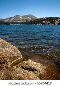 Alpine lake in the Sierra Nevada Mountains