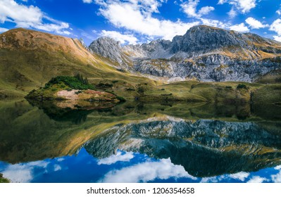 Alpine lake in southern Germany called Schrecksee