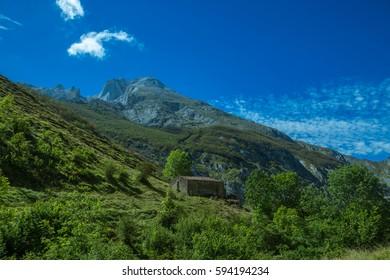 Alpine landscape. Cantabria, Spain.