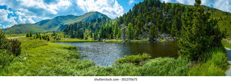 Alpine landscape, Lake Windebensee in Carinthia, Nockalmstrasse, Austria