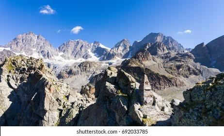 Alpine Monument on the Mountain - Valtellina, Valmalenco