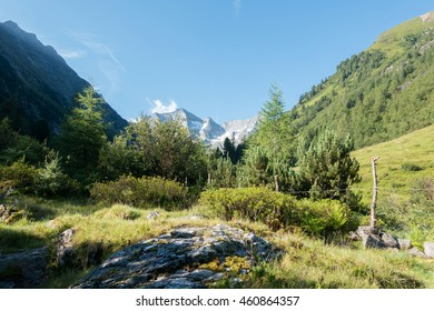 Alpine and mountain landscape in the alps