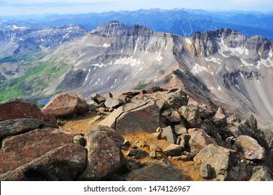 Alpine mountain landscape in San Juan Range, where many Colorado 14ers are located