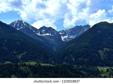 Alpine mountain side