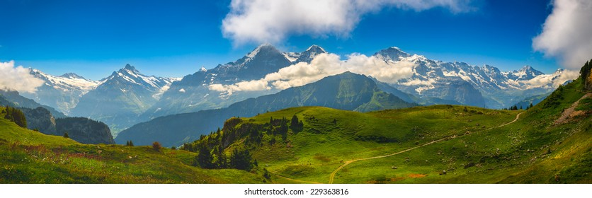 Alpine Panorama: Eiger North Face, Swiss Alps