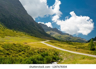 Alpine road landscape, Austria