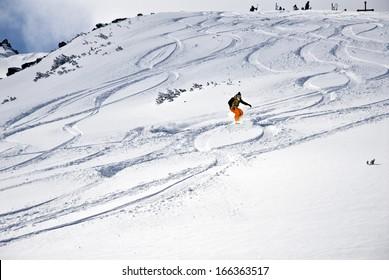 Alpine ski resort Bansko (snowboarding)