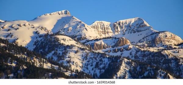 Alpine skiing in Jackson Hole, Wyoming