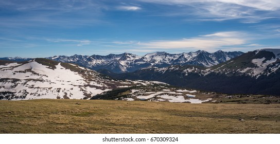 The Alpine Slopes of the Rocky Mountains in the Rocky Mountain National Park