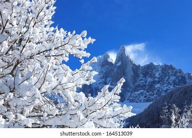 Alpine snowy landscape