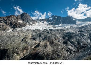Alpine valley in the italian alps of Valtellina